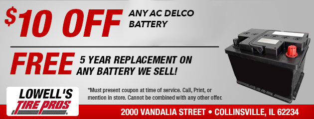 $10 OFF any AC Delco Battery