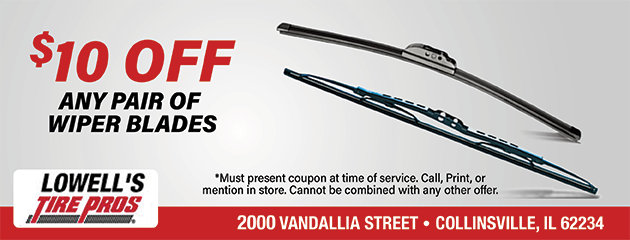 $10 OFF Any Pair of Wiper Blades